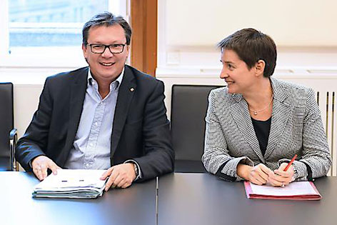 Norbert Darabos und Sonja Wehsely