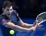 Dominic Thiem gegen Novak Djokovic in London