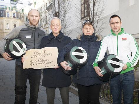 Fußballer Robert Almer und Steffen Hofmann werben für die Gruft