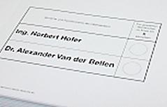 Stimmzettel für die Bundespräsidentenwahl