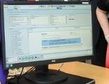 Computerbildschirm mit Datenbank der Elektronischen Gesundheitsakte ELGA