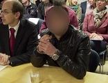 Hauptangeklagter beim Prozess zum Mord im Lehener Park in Salzburg