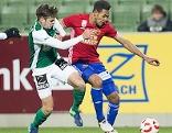 Philipp Erhardt (SV Mattersburg) und Joelinton (SK Rapid Wien)