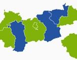 Ergebnisse in den Tiroler Bezirken