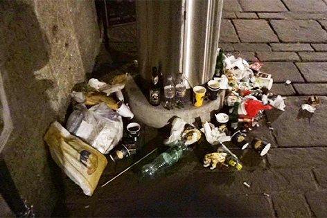 Müllsituation Christkindlmarkt