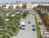 Visualisierung für geplanten Busparkplatz Schönbrunn