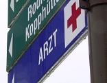 """Straßenschild """"Arzt"""""""