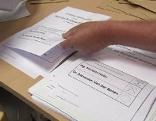 Wahl Urne Briefwahl Wahlschild Wahlkarte
