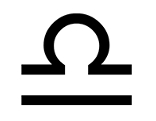 Symbol Sternzeichen Waage