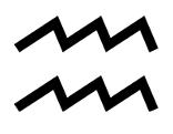 Symbol Sternzeichen Wassermann