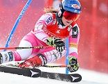 Mikaela Shiffrin beim Weltcup Riesentorlauf am Semmering am 27. Dezember 2016