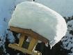 Winterfoto Vogelhaus Schnee