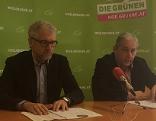 Pressekonferenz der Grünen mit Walser und Weiderbauer
