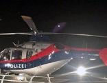 Polizeihubschrauber Libelle bei Nacht