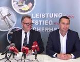 Landeshauptmann Hans Niessl und SPÖ-Klubobmann Robert Hergovich