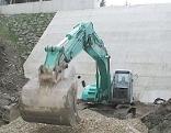 Bau von Rückhaltebecken