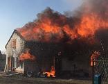 Strasshof Wohnhausbrand Feuerwehr