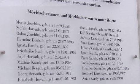 Gedenktafelenthüllung Mörbisch