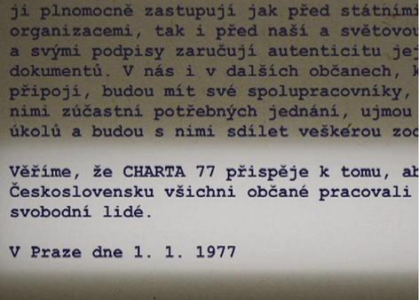 Část textu Charty 77