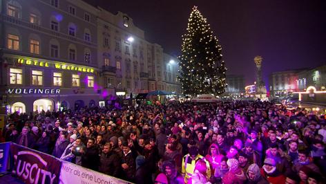 Silvesterparty auf dem Linzer Hauptplatz