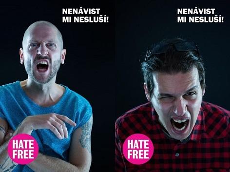 Jožo Rabara a Jakub Krásný na oficiální kampani HateFree
