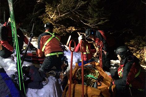 Einsatz der Bergrettung auf der Gemeindealpe