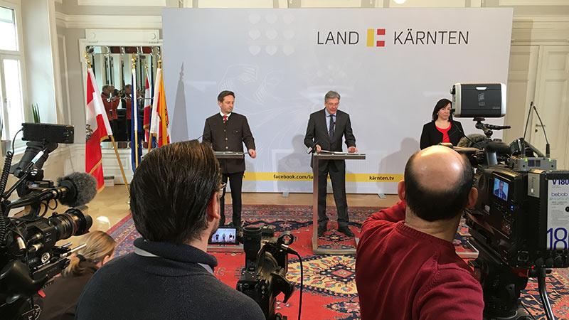 Christan Benger Peter Kaiser Marion Mitsche Landesverfassung