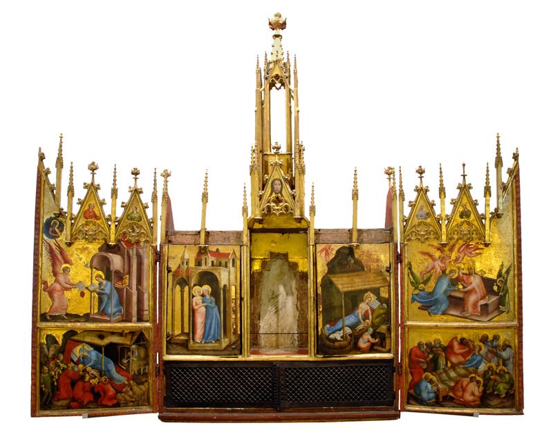Frontalansicht des geöffneten Altars