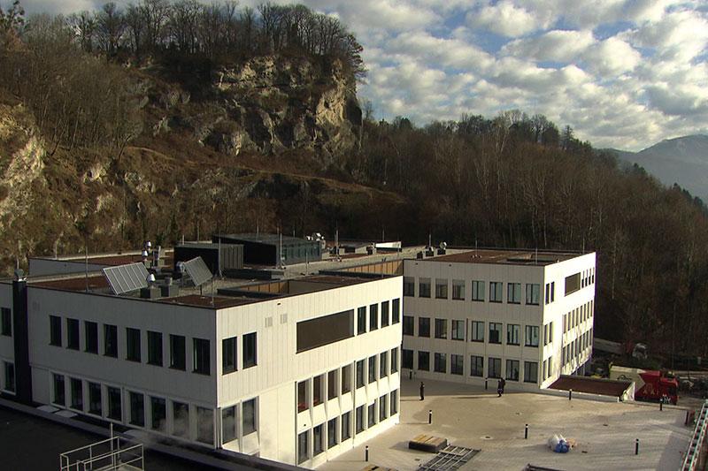 Gebäude des Akademischen Gymnasiums Salzburg auf dem Rainberg