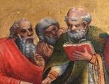 """Ausschnitt """"Marientod"""" aus dem Marienzyklus auf dem Altar"""