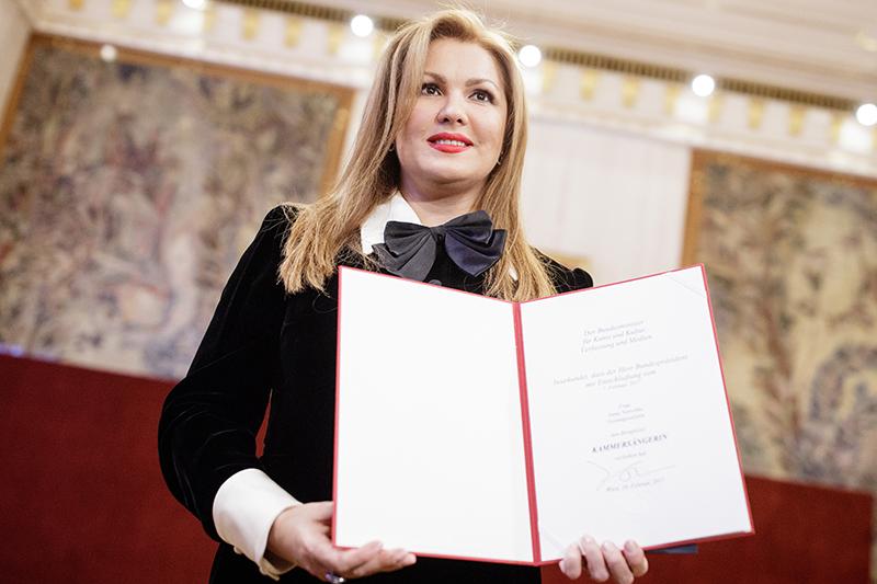 Anna Netrebko bei der Ernennung zur Kammersängerin