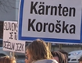 Demonstracija ustava deželni jezik slovenščina KSŠŠD študenti KDZ AKS protest vlada