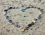 Herz Steine Strand