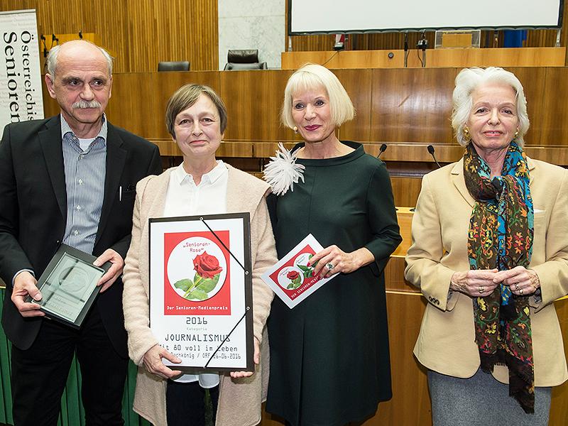 Erich Schneller (ORF Produzent), Edith Bachkönig (ORF), Heilwig Pfanzelter und Irmgard Bayer