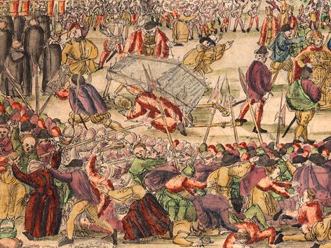 """Der """"Milchkrieg"""", ein Tumult bei der Fronleichnamsprozession 1578"""