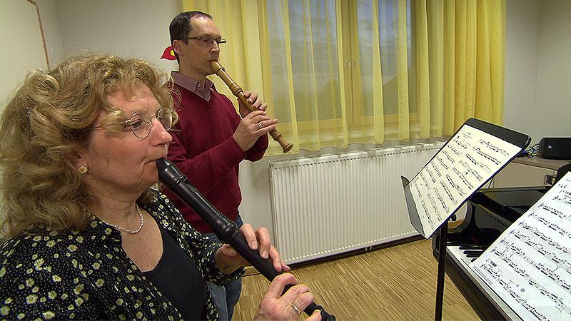 Rotraut Hinterleitner in der Musikschule