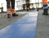 Markierungsarbeiten Kurzparkzone Klagenfurt
