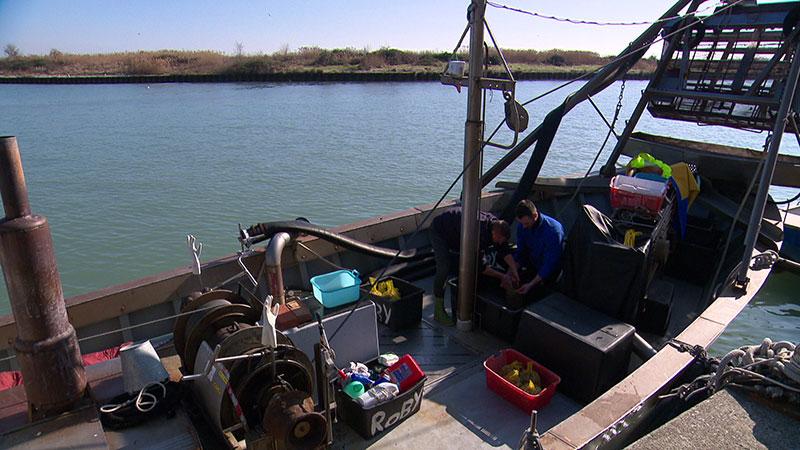 Muscheln Cape Fischerboot
