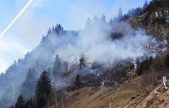 Flurbrand im Gebirge bei Hüttschlag