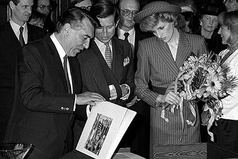 Prinz Charles Prinzessin Diana und Helmut Zilk