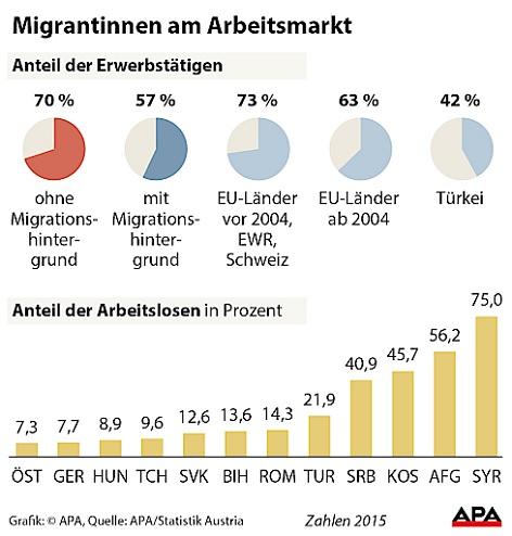 """Statistik zum Thema """"Migrantinnen am Arbeitsmarkt"""""""
