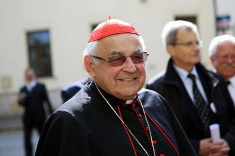 Kardinál Miloslav Vlk na snímku z října 2015