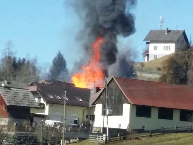 Wohnhausbrand St Urban Agsdorf Schinegger