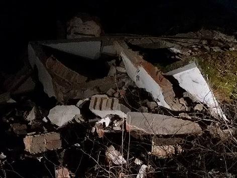 Korška cesta zemeljski plaz zasul peči pobočje trafo porušen Smrtnik Obirsko peči