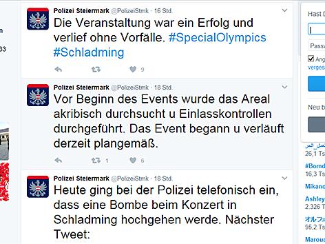 Polizei-Tweets