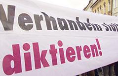 Banker Protest Klagenfurter Innenstadt Lohnabschlüsse