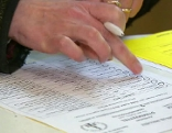 Stimmzettel bei Pfarrgemeinderatswahl in Wien