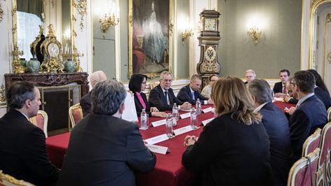 zastupniki narodnih savjetnov kod saveznoga predsjednika Alexander van der Bellen