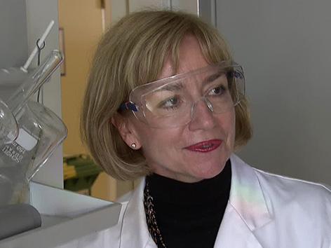 Karin Stana Kleinschek kemičarka TU Gradec laboratorij