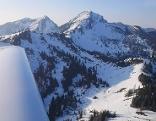 Schneelage Flugbild Sonntagshorn Hirscheck Peitingköpfl Unken Heutal Chiemgauer Alpen